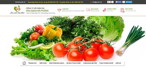 giải pháp Marketing Online cho kinh doanh rau sạch - Website Cửa hàng Rau sạch