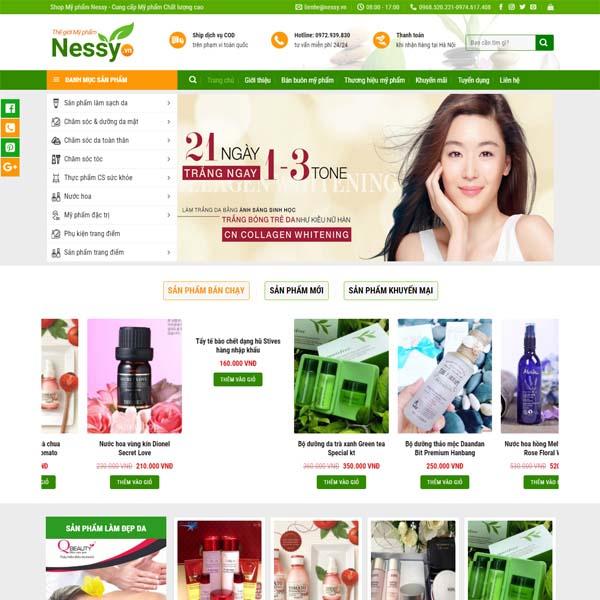 Xây dựng Website cho mỹ phẩm
