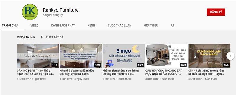 Giải pháp Marketing Online ngành nội thất - Xây dựng Kênh Youtube