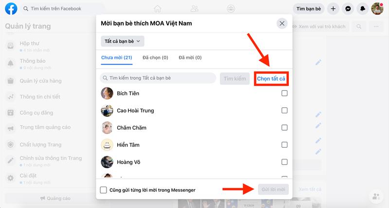 Mời Bạn Bè Like Để Tăng Tương Tác Facebook
