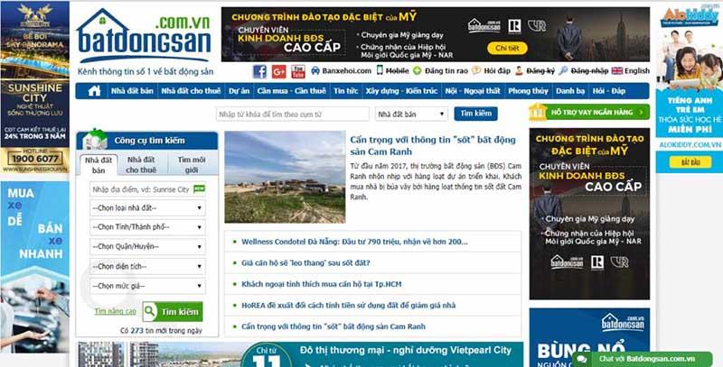giải pháp Marketing Online kinh doanh bất động sản - Trang web giới thiệu bất động sản