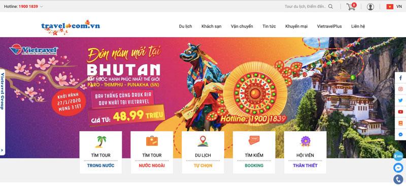 giải pháp Marketing Online cho công ty du lịch - Website Cho Công Ty Du Lịch