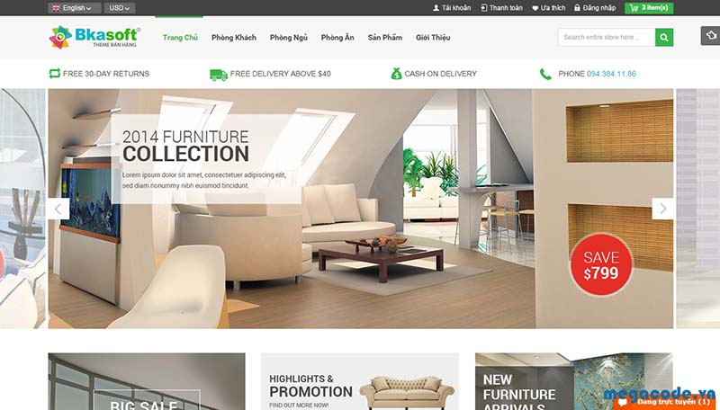 Giải pháp Marketing Online ngành nội thất - Thiết kế website