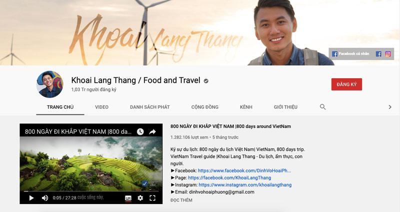 giải pháp Marketing Online cho công ty du lịch - Kênh Youtube Cho Công Ty Du Lịch