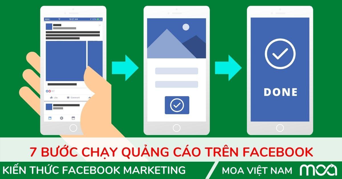 Các bước chạy quảng cáo facebook moa việt nam