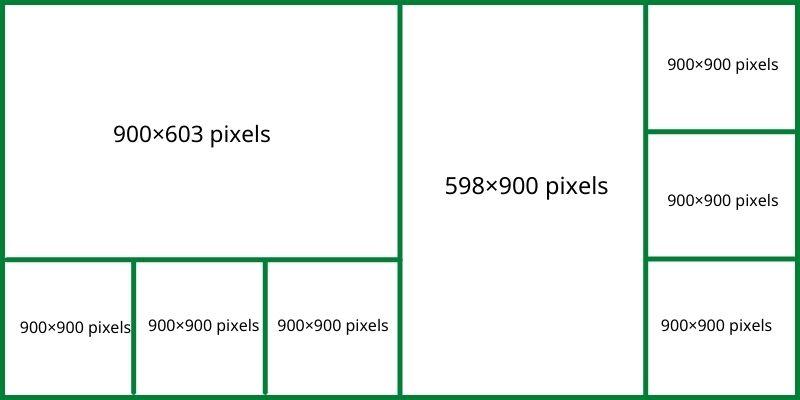 Đăng 1 hình chữ nhật 3 hình vuông