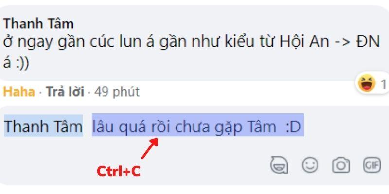 Coppy phần bình luận bạn muốn đổi in đậm chữ trên facebook