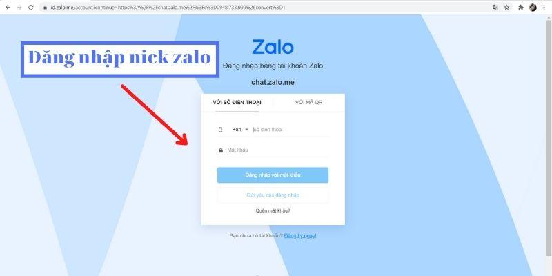 cách đăng nhập nhiều zalo bằng web