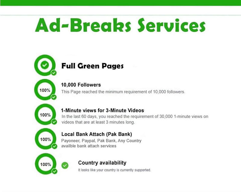 Phương pháp giúp đủ điều kiện kiếm tiền của Facebook Ad Breaks