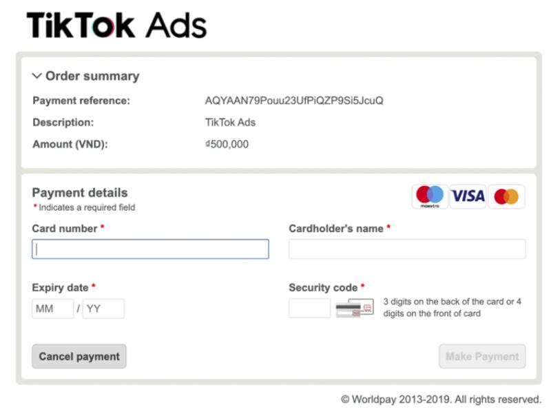 Bước 12 chạy quảng cáo trên Tiktok