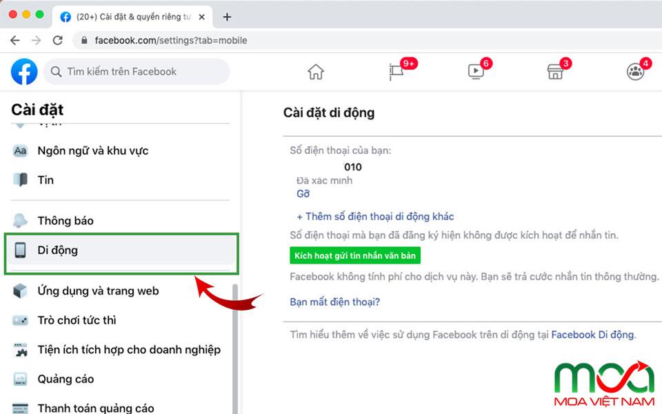 Kiểm tra số điện thoại trong tài khoản Facebook