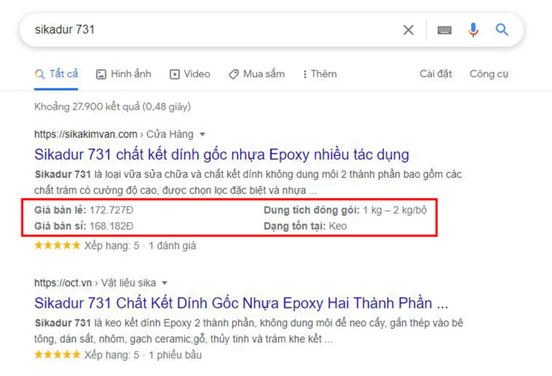 Rich Snippets Product