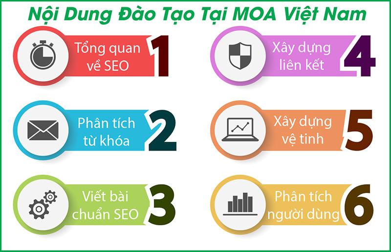 Nội dung đào tạo Seo web tại MOA Việt Nam