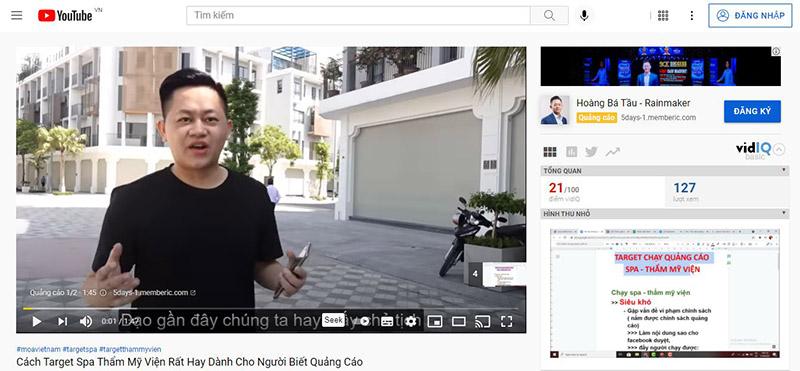 Hình thức quảng cáo youtube